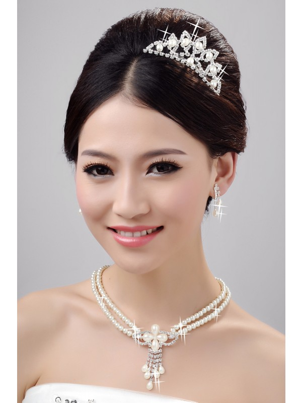 Fashion Alloy Clear Cristallos Wedding Party Earrings Set