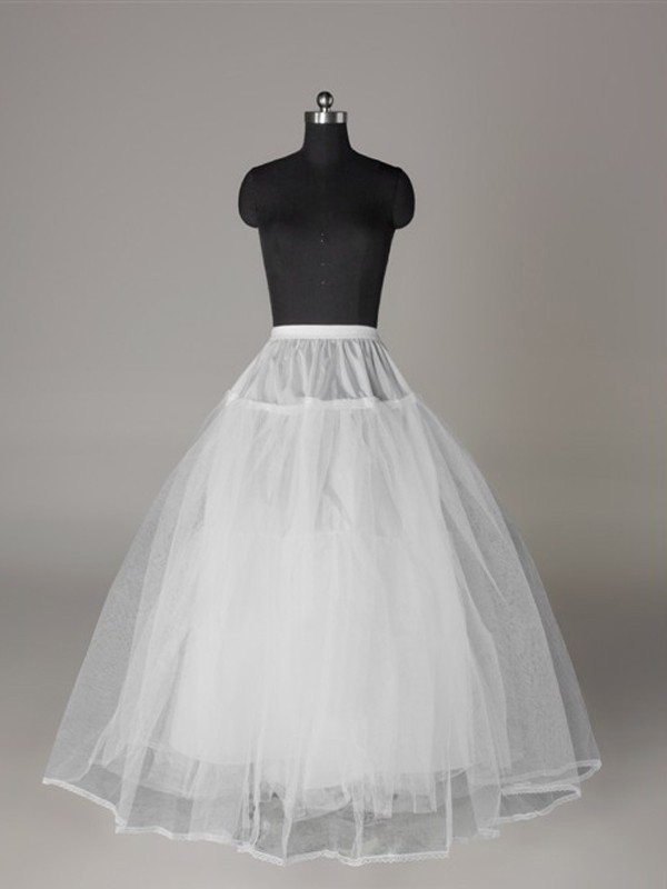 Tyll Reteting Ball-Gown 3 Tier Floor Length Slip Style Wedding Petticoat