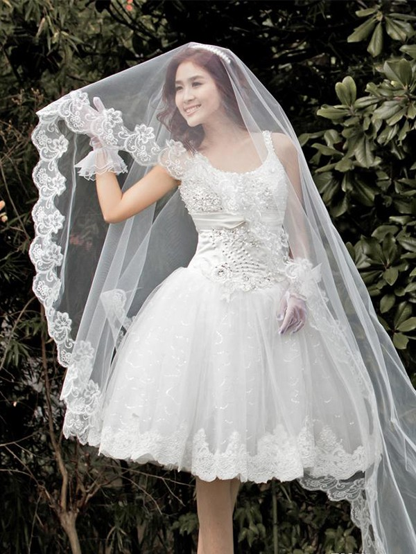 Gorgeous Tyll With Pizzo Wedding Veils