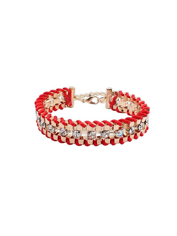 Occident Ethnic Customs Woven Strass Fashion Bracelets