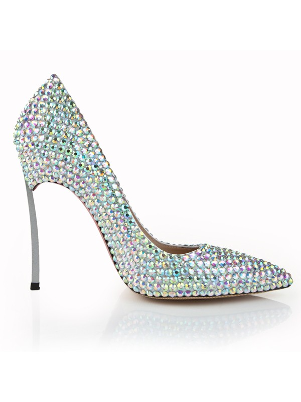 Stiletto Heel Closed Toe Patent Leather With Strass High Heels