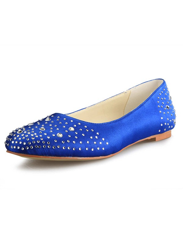 Flat Heel Raso Closed Toe With Strass Flat Shoes